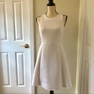 Banana Republic, White A-line high waist dress, 8